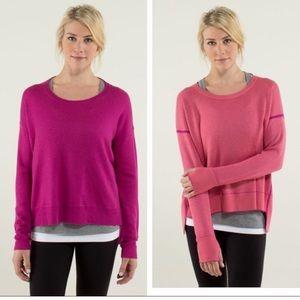Lululemon Feeling Balanced Reversible Sweater Sz 4